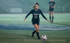 Karina Borgen in a soccer game last season. Borgen represents one of the class of 2022 who are looking for college opportunities.
