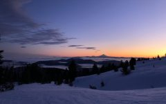 View from the top of Vista Express from Mt. Hood Meadows Ski resort.