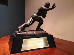 Pictured above is the Heisman Trophy of 1966, which was awarded to Steve Spurrier. As the most prestigious award given to college football players, it holds a certain amount of fame and awe in itself.