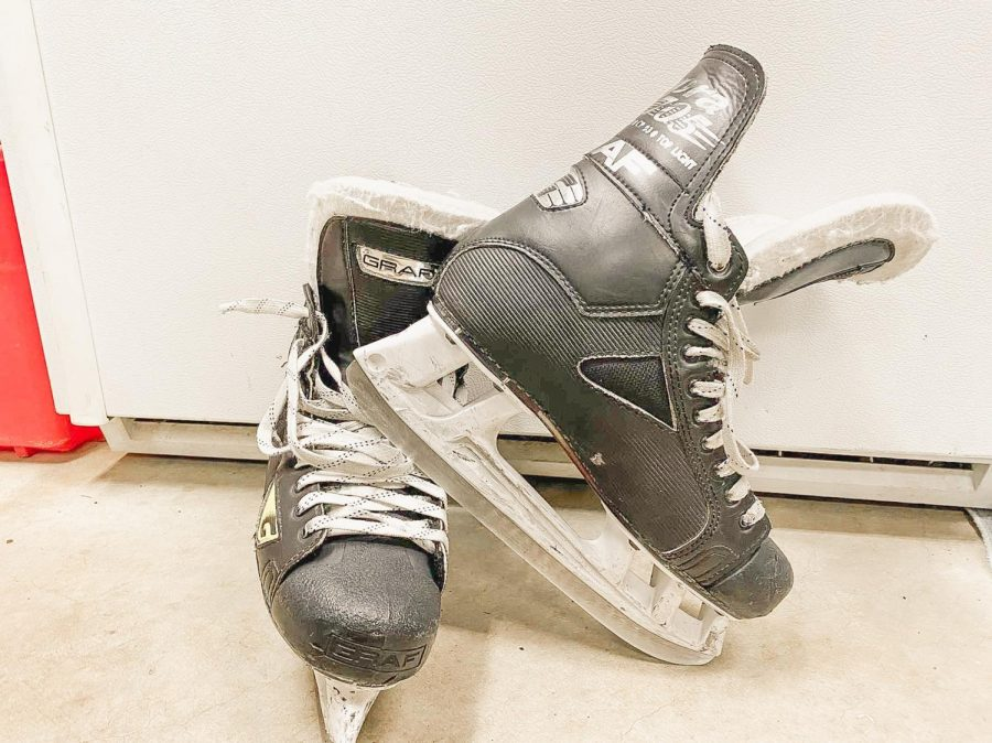 A photo of Emilia's ice skates
