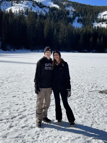 Madison Koellermeier and Shane Tacla at the mountain this weekend.