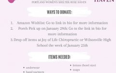 Girl Up is hosting a feminine hygiene drive. The drive will begin all around Wilsonville the week January 25th.