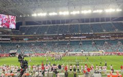 A look inside the stadium that played host to the National Championship. The capacity was limited to 1/5 of the normal standard.