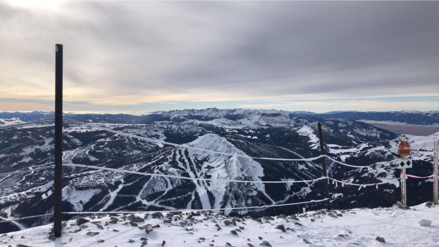 View of Montanas skyline from the top of Big Sky Mountain.