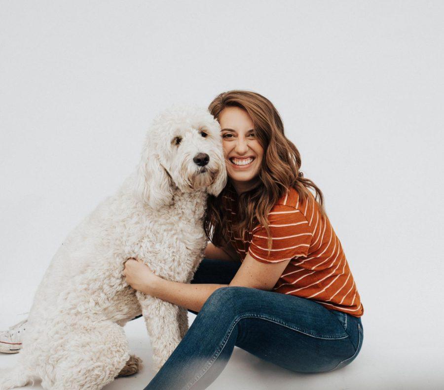 Haley Graham with her adorable dog Olive.