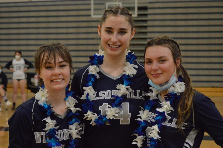 Wilsonville celebrated senior night on April 6th. They beat Oregon City on straight sets