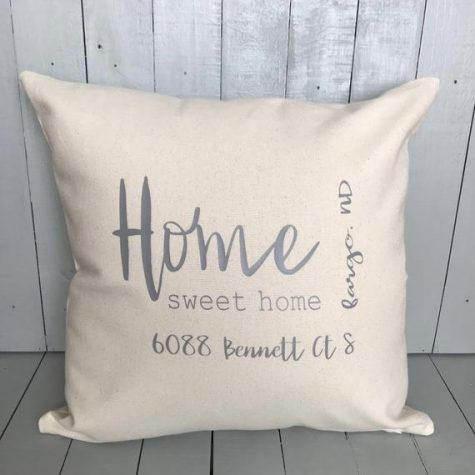 Address Throw Pillow