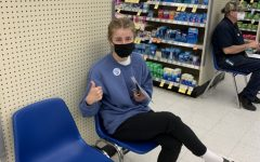 Sophomore Fiona Dunn gets her vaccine at Walgreens in Wilsonville.