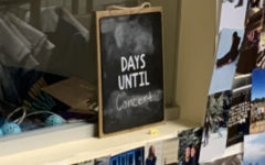 The chalkboard in Ms. K's room was being used as a countdown until the concert--It is pictured above the afternoon after the performance.