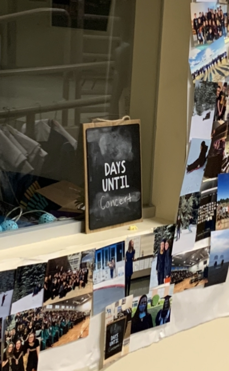 The chalkboard in Ms. Ks room was being used as a countdown until the concert--It is pictured above the afternoon after the performance.