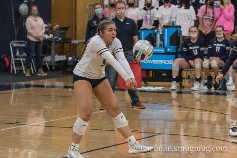 Senior Sophia Kleckner in action during the game against St. Helens