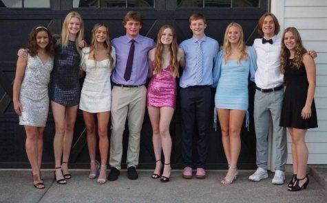 Sophomores at this years homecoming. Featuring Kate Gore, Olivia Lyons, Caroline Delamotte, Mason Seal, Ashlyn Hartford, Luke Larson, Campbell Lawler, Kellen Larson, and Cammy Gore.