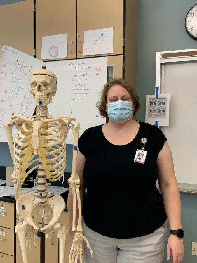 Ms. Adams, a new teacher at Wilsonville High School