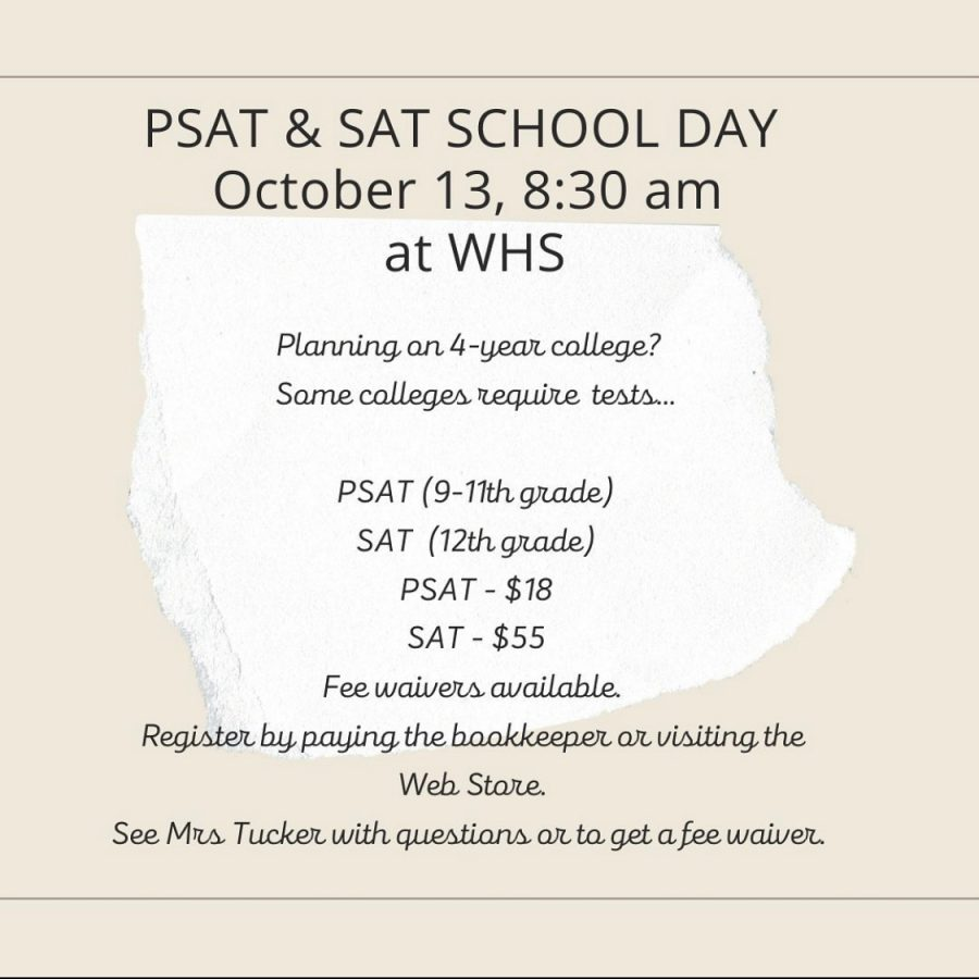 **Registration is now closed** Test day is October 13th, at 8:30 am!
