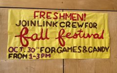 There are banners advertising the festival hanging around the school! It is on October 30th at 1 pm.