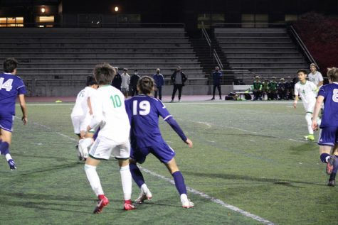 Sergio #19 goes against Kevin Hidalgo #10 from Parkrose. The Wildcats ended up winning 2-1.